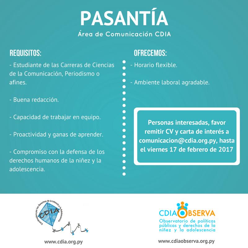 Pasantía Comunicación CDIA 2017